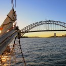 Sailing Sydney Harbour by Tall Ship